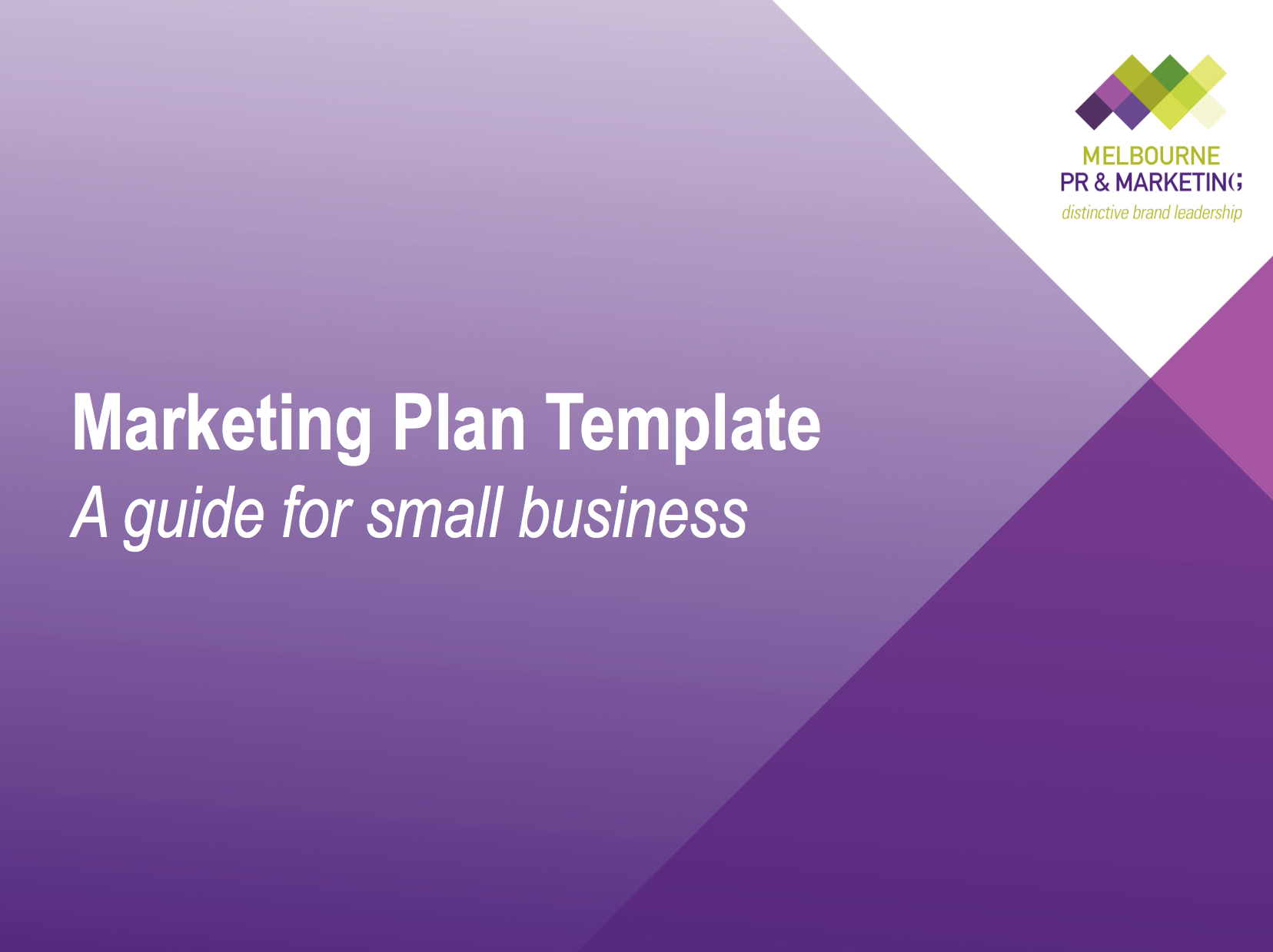 Products Marketing Plan Template A Guide For Small Business Ros Weadman
